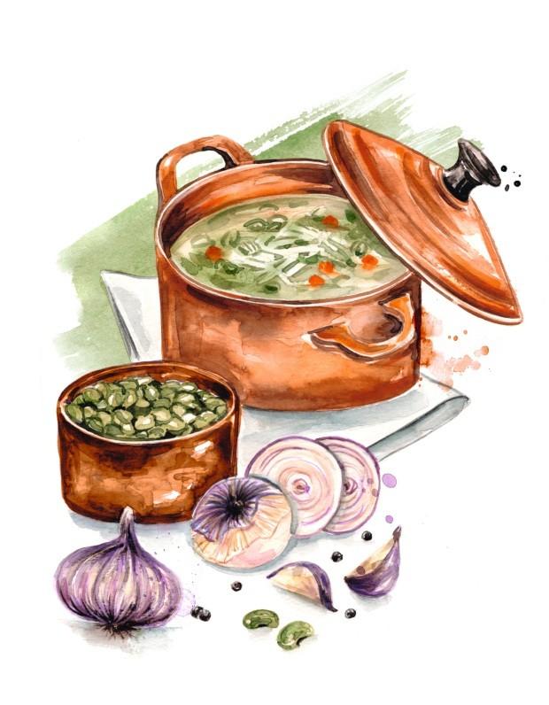 Ilustração Cozinha Investigativa de outubro de 2018 (Foto: Ilustração Mary Cagnin / Editora Globo)