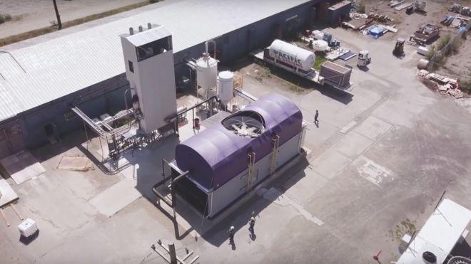 Equipamento que capta CO2 da atmosfera (Foto: ALAMY via BBC)