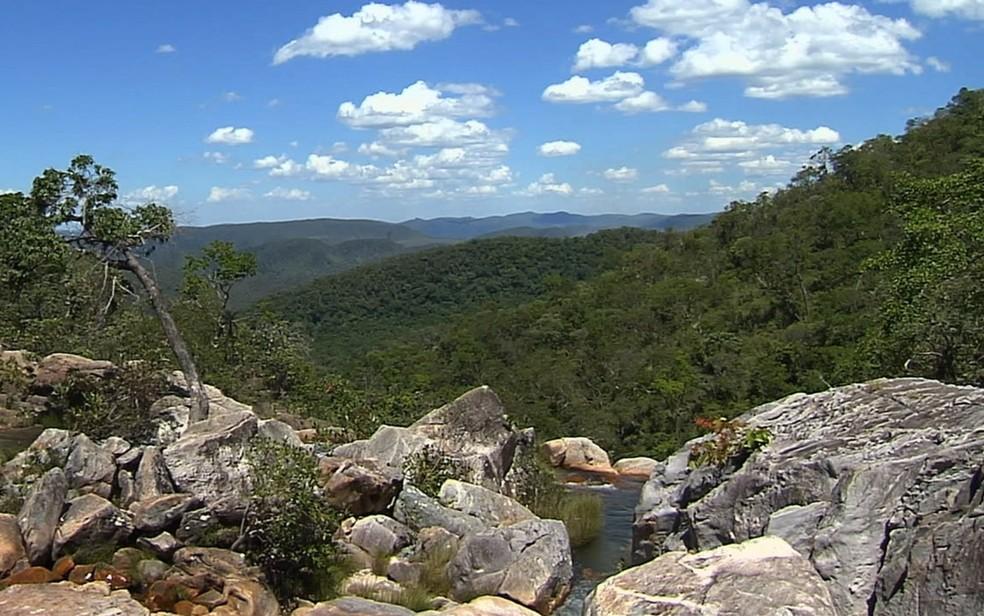 Parque Nacional da Chapada dos Veadeiros Goiás — Foto: Reprodução/TV Anhanguera