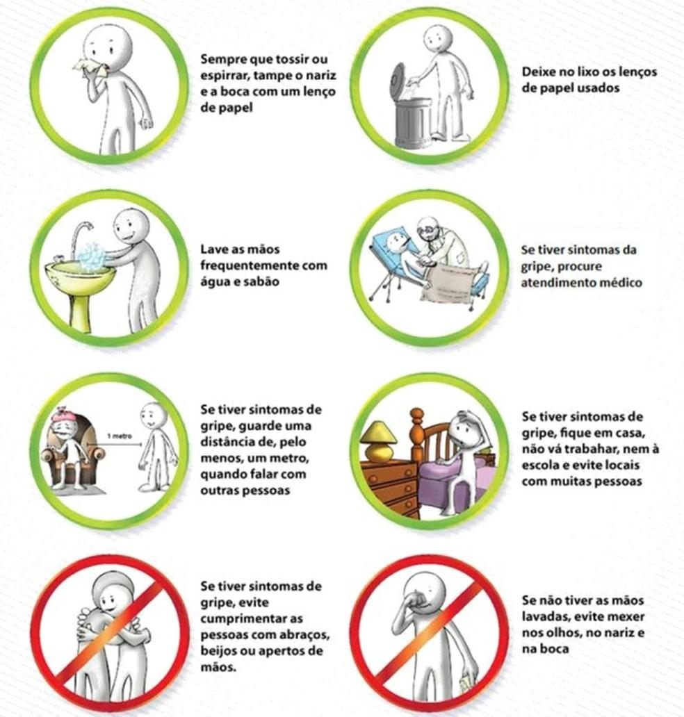 Governo  emite nota técnica sobre influenza, com medidas de prevenção individual  (Foto: Divulgação/Sesa)