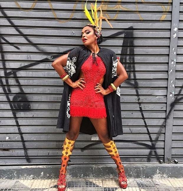 Walkiria Ribeiro foi musa do Bloco Gambiarra no Carnaval 2018 (Foto: Divulgação)