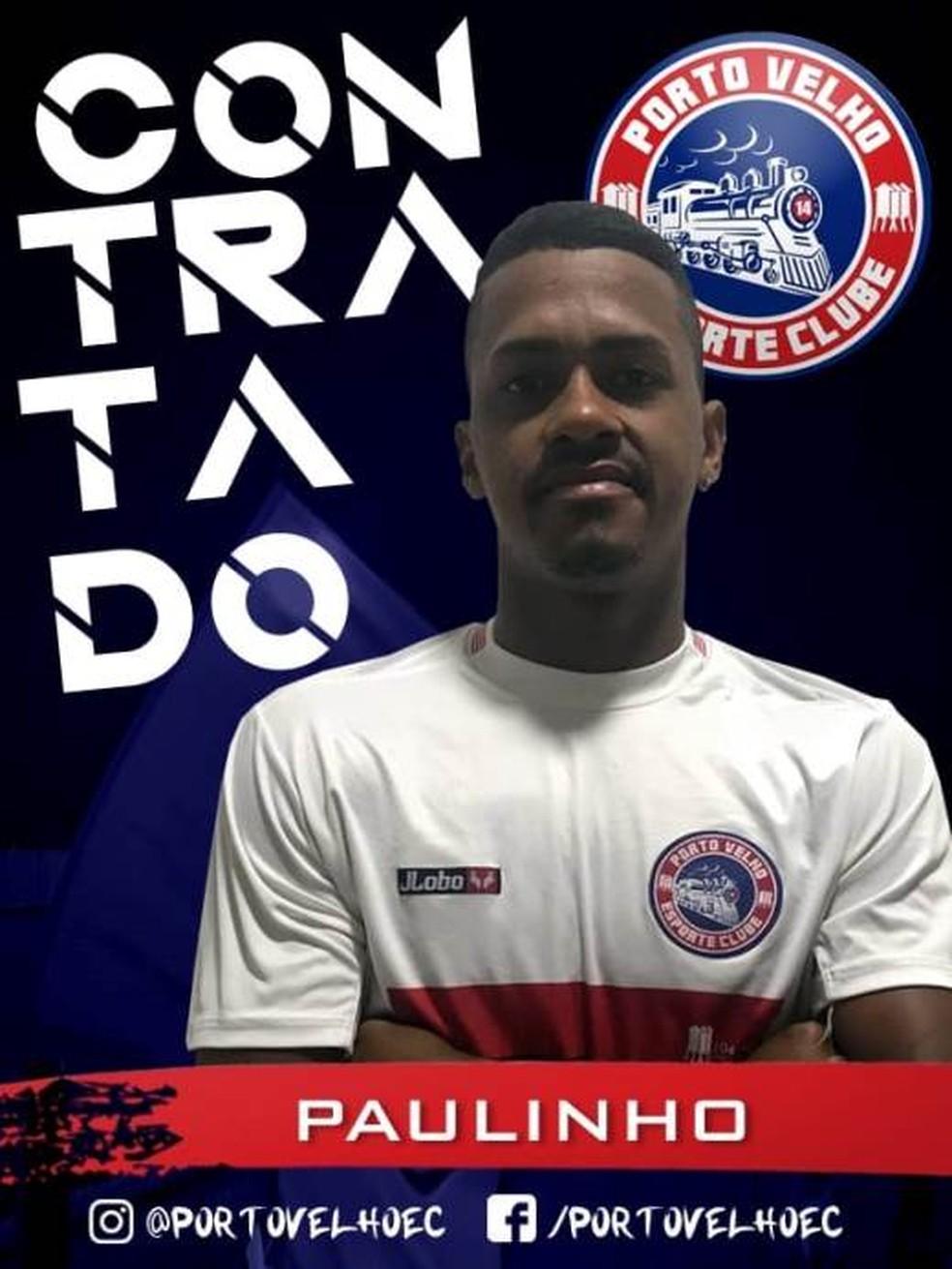 ... Porto Velho anuncia mais um reforço para o Campeonato Rondoniense 2019  — Foto  Divulgação 0cc4faf43d455