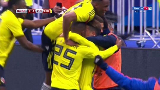 Os gols de França 2 x 3 Colômbia em amistoso internacional