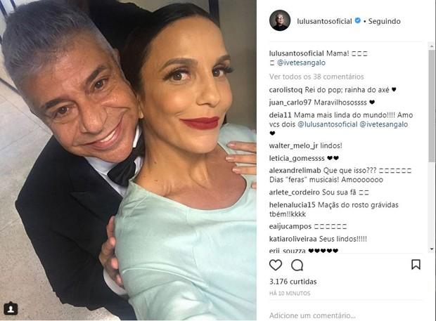 """Lulu Santos chama Ivete de """"Mama"""" no Instagram (Foto: Reprodução/Instagram)"""
