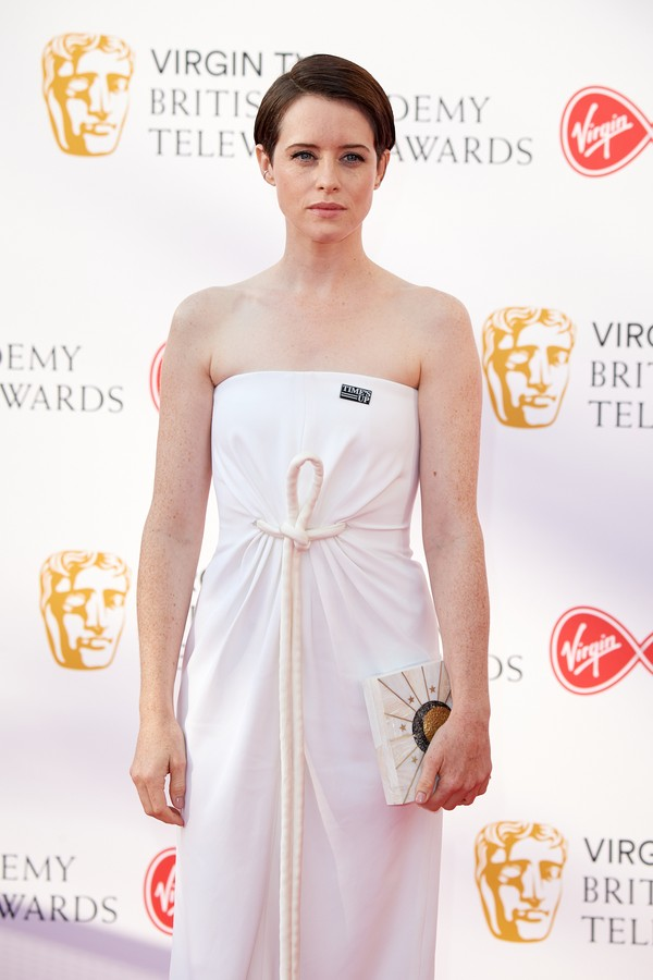 Claire Foy no TV BAFTA Awards (Foto: Getty Images)