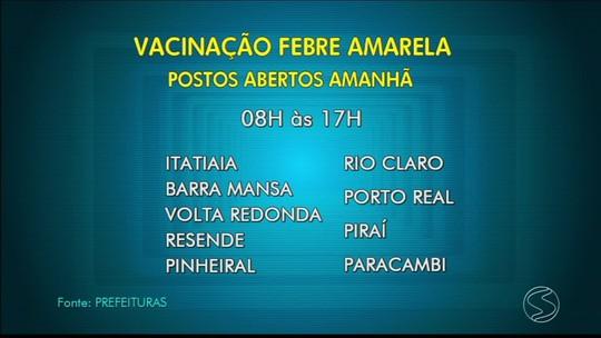 Cidades do Sul do Rio fazem Dia D de vacinação contra a febre amarela