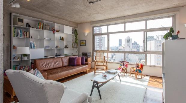 Sala de estar de apartamento da imobiliária (Foto: Divulgação)