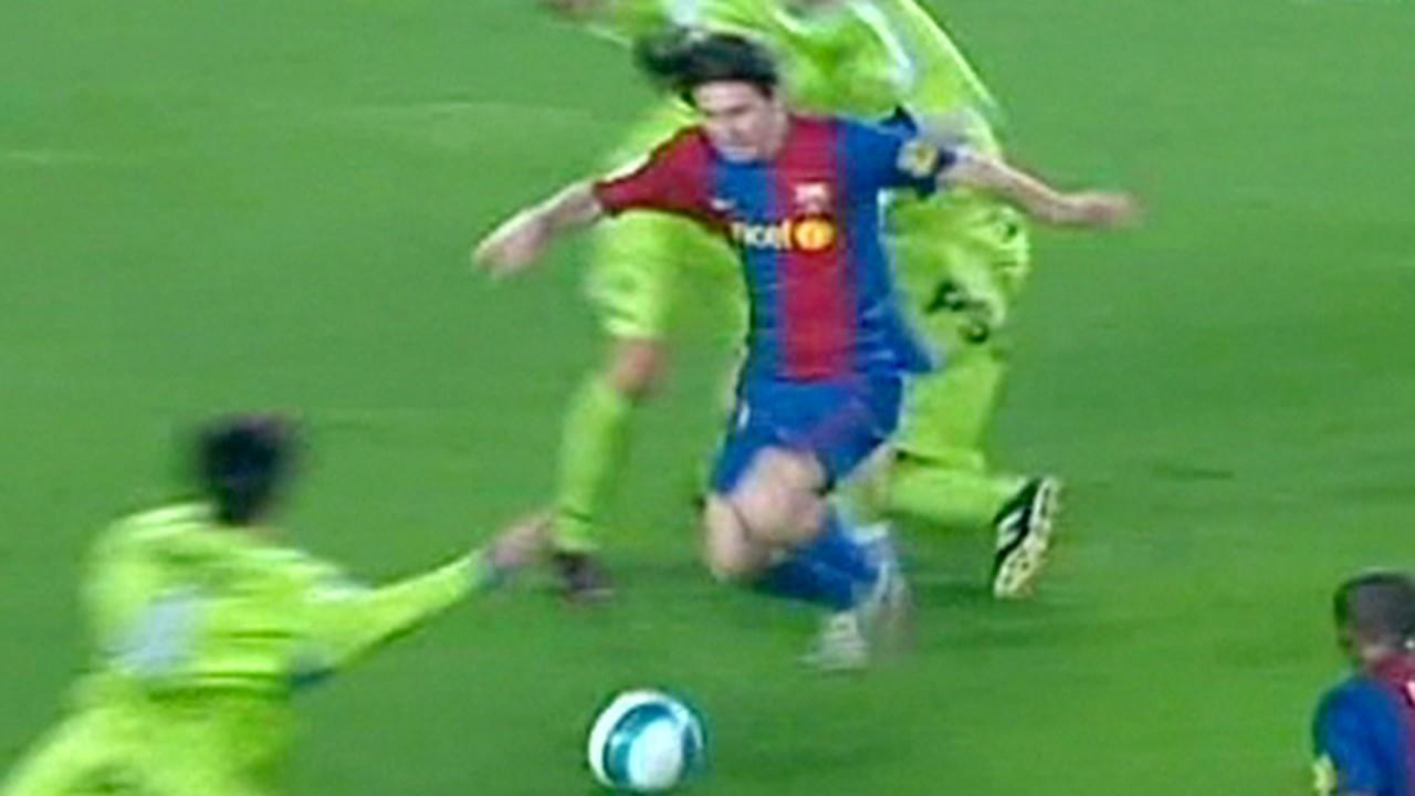 Começamos por 2007, quando Messi fez um golaço contra o Getafe que lembrou Maradona