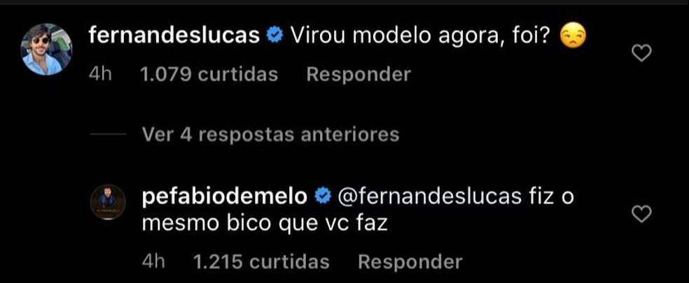 Lucas Fernandes também entrou na brincadeira — Foto: Reprodução/Instagram