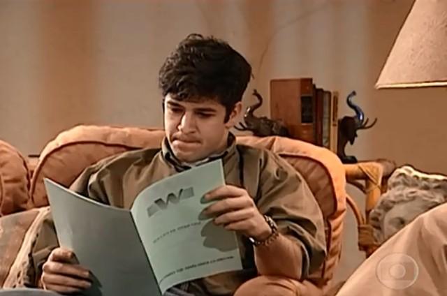 Murilo Benício em cena como Leo em 'Por amor' (Foto: Reprodução)