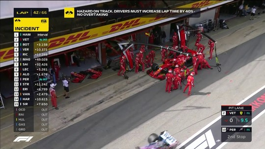 """Após 4º lugar, Vettel justifica pit stop extra: """"Estávamos acabando com os pneus"""""""