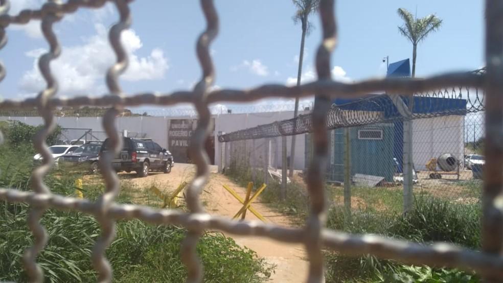 Presídio Rogério Coutinho Madruga, mais conhecido como pavilhão 5 de Alcaçuz — Foto: Ediana Miralha/Inter TV Cabugi