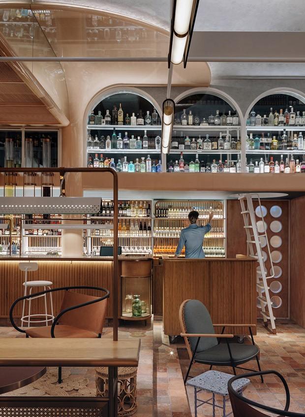 Restaurante em Hong Kong tem décor com influências do Oriente e do Ocidente (Foto: Photography by Jonathan Leijonhu)