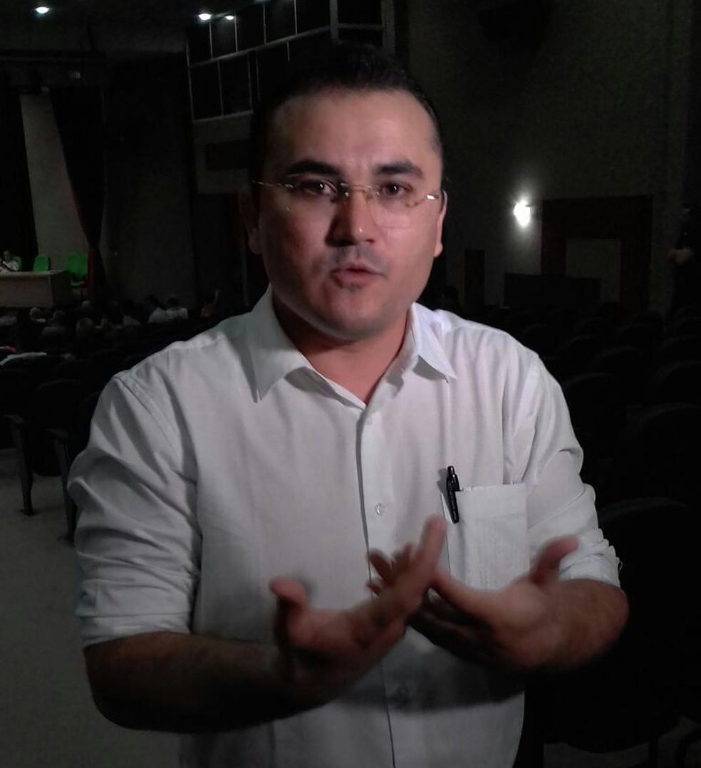 Freitas Júnior foi escolhido pelo partido Rede Sustentabilidade para disputar o governo do RN (Foto: Julianne Barreto/Inter TV Cabugi)