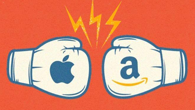 Apple x Amazon: qual das duas gigantes tem melhor perspectiva de crescimento? (Foto: BBC News)
