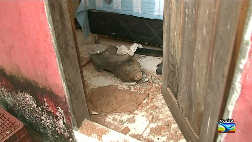 Explosão foi de cilindro de gás termina em morte no João Paulo — Foto: Reprodução / TV Mirante