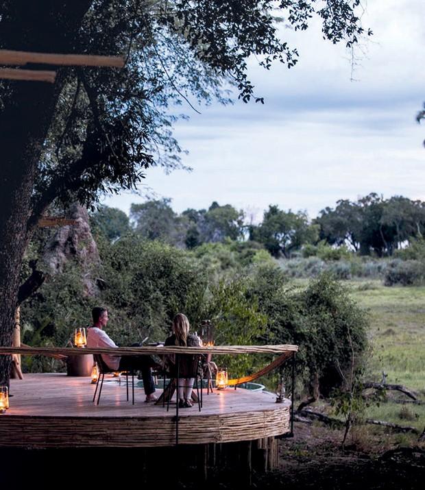 Vista de um dos 44 lodges da Wilderness Safaris, em Botsuana. (Foto: Kiko Ferrite, Leonardo Finotti, Ruy Teixeira e Divulgação)