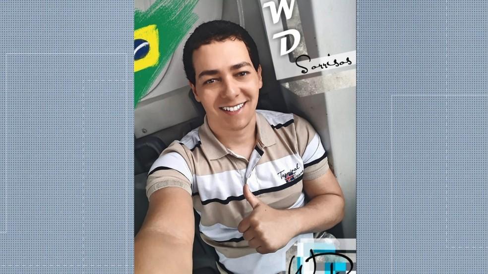 Wiliam Douglas Soares Rodrigues, de 28 anos, é suspeito de matar a namorada no Espírito Santo — Foto: Reprodução/ TV Gazeta