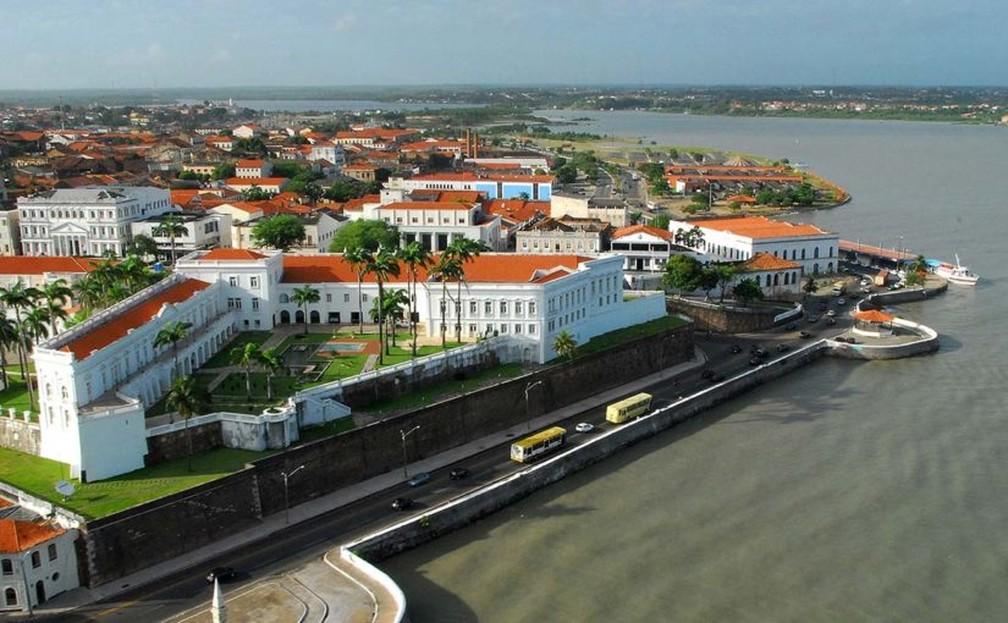 Vista da Avenida Beira-Mar e Palácio dos Leões em São Luís — Foto: Divulgação