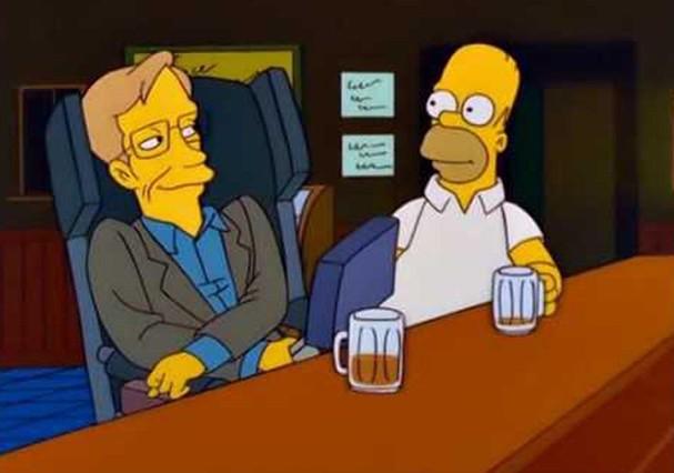"""Hawking em """"Os Simpsons"""" (Foto: Reprodução)"""