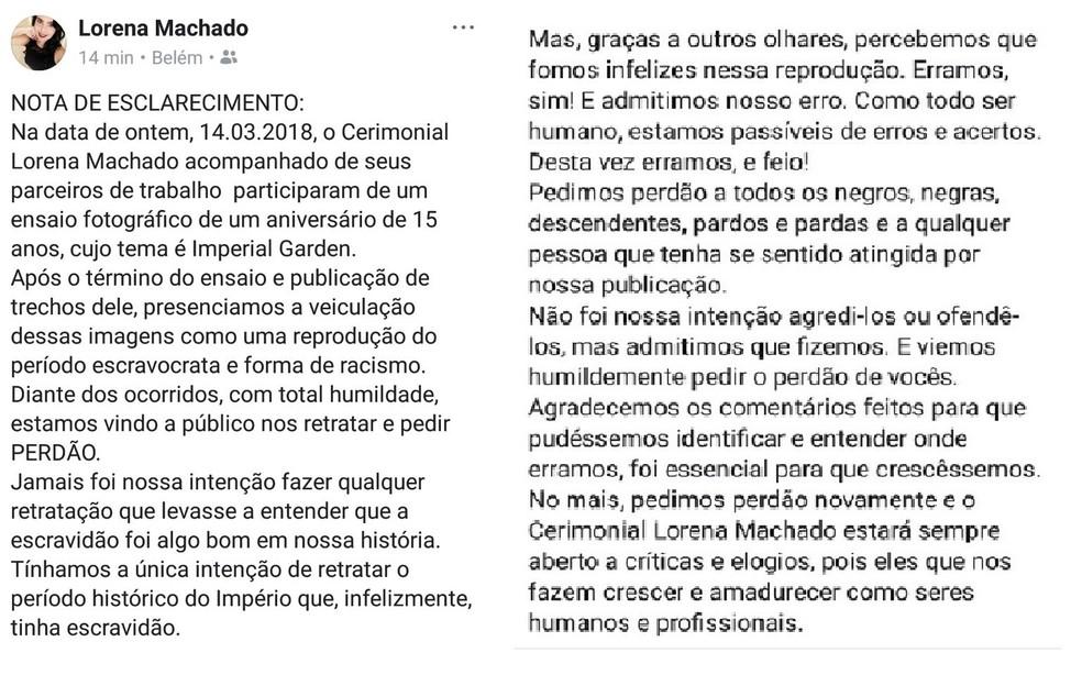 Cerimonialista se pronunciou nas redes sociais pedindo desculpas. (Foto: Reprodução / Facebook)