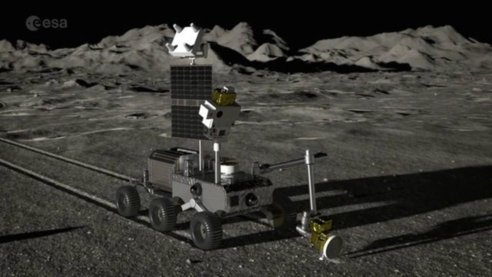 ESA fechou parcerias com empresas para desenvolver projeto de mineração do solo lunar — Foto: Reprodução: ESA