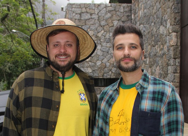 Léo Fuchs e Bruno Gagliasso (Foto: Wallace Barbosa/AgNews)