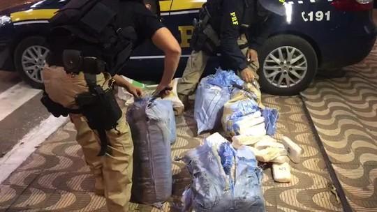 Motorista de caminhão é preso em MT com 170 kg de droga que seriam levados para o PR