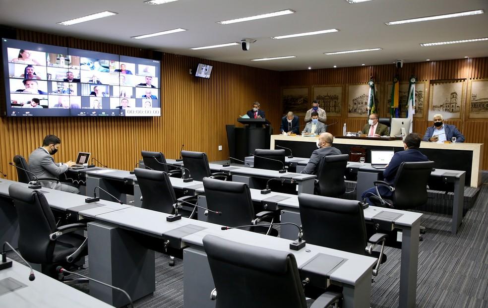 Vereadores aprovaram projeto com duas emendas — Foto: Elpídio Júnior