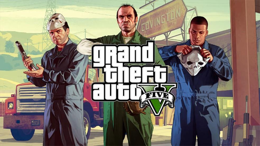 GTA 5 caminha para atravessar sua terceira geração de consoles e segue fazendo sucesso — Foto: Reprodução/Rockstar