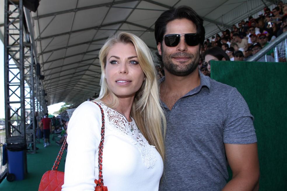 Caroline Bittencourt e Jorge Sestini, em foto de novembro de 2017 — Foto: Denise Andrade/Estadão Conteúdo/Arquivo