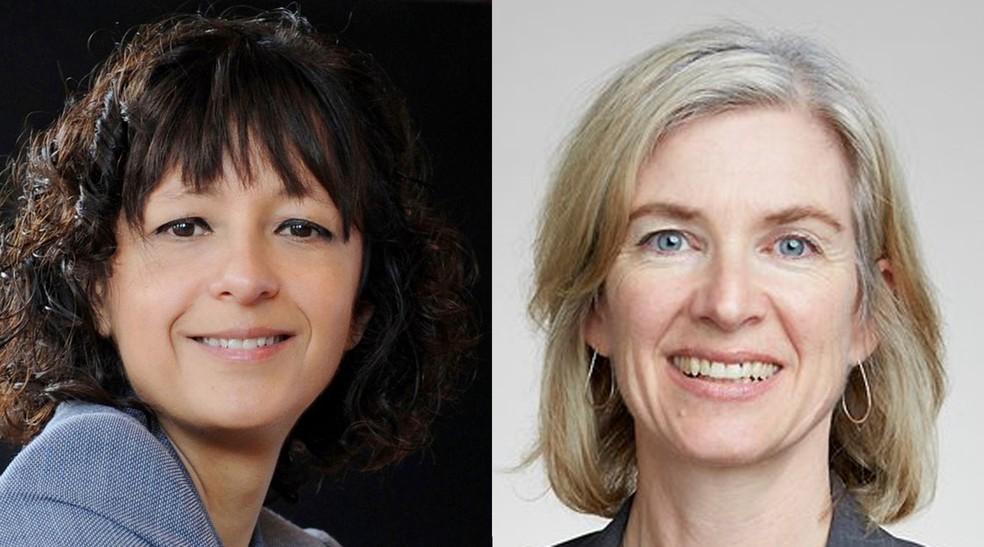 Emmanuelle Charpentier e Jennifer A. Doudna, vencedoras do Nobel de Química de 2020 — Foto: Montagem/G1