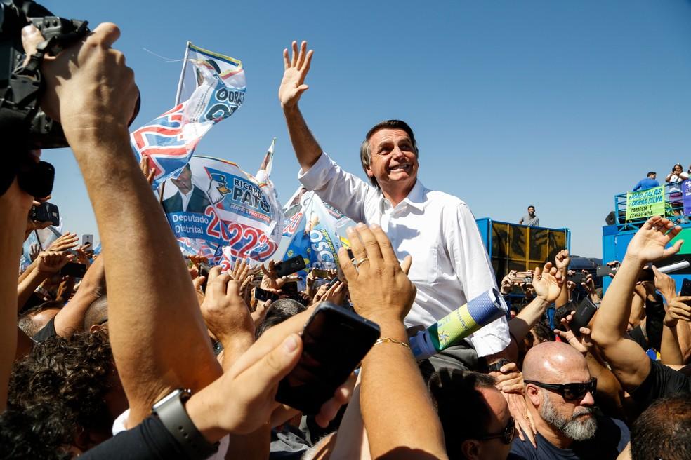 Jair Bolsonaro, candidato a presidente — Foto: WALTERSON ROSA/FRAMEPHOTO/ESTADÃO CONTEÚDO