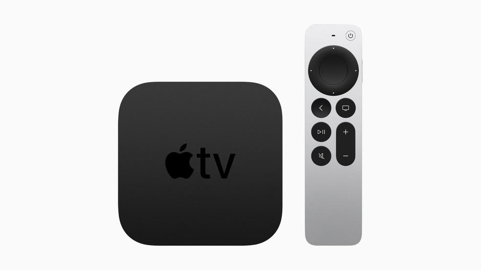 Nova Apple TV 4K, anunciada em 20 de abril de 2021. — Foto: Divulgação/Apple