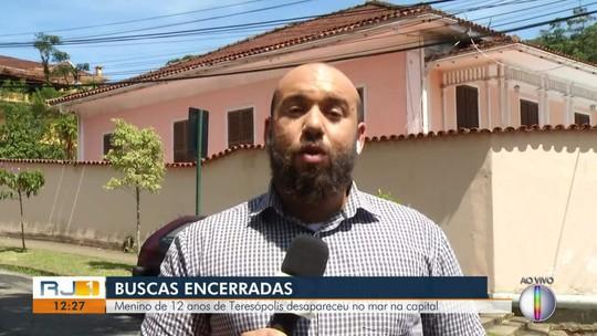 Bombeiros não localizam e encerram buscas por menino de Teresópolis que sumiu no mar no RJ
