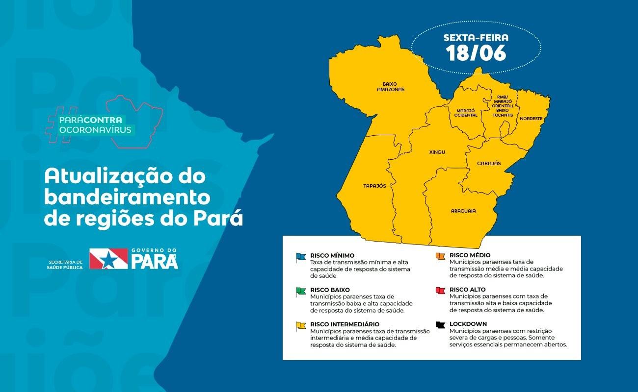 Regiões do Araguaia e de Carajás entram no bandeiramento amarelo
