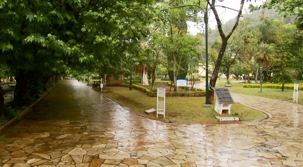 Parque das Águas passa a ser administrado pela Codemig, em Caxambu (Foto: Reprodução EPTV)