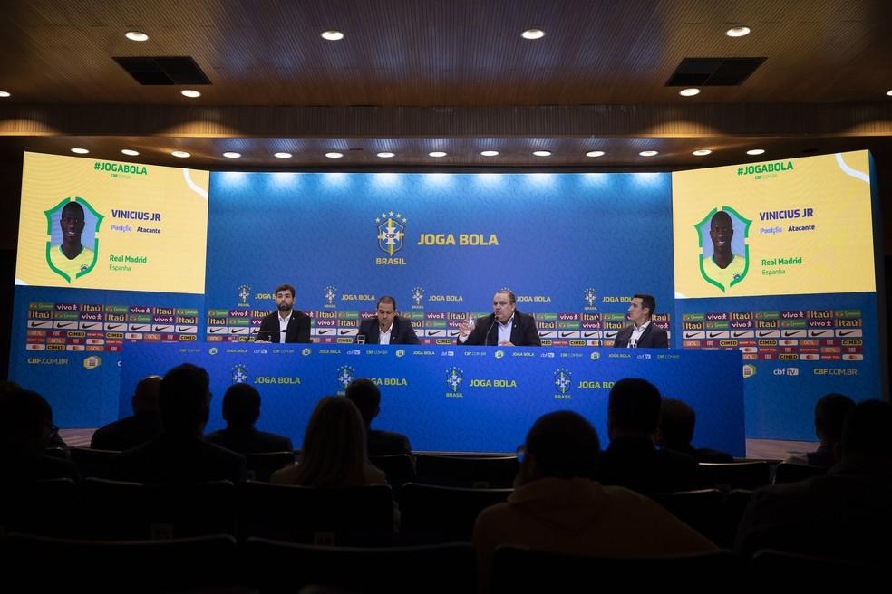 CBF divulgou os convocados para os primeiros compromissos da seleção olímpica em 2020 — Foto: Lucas Figueiredo/CBF