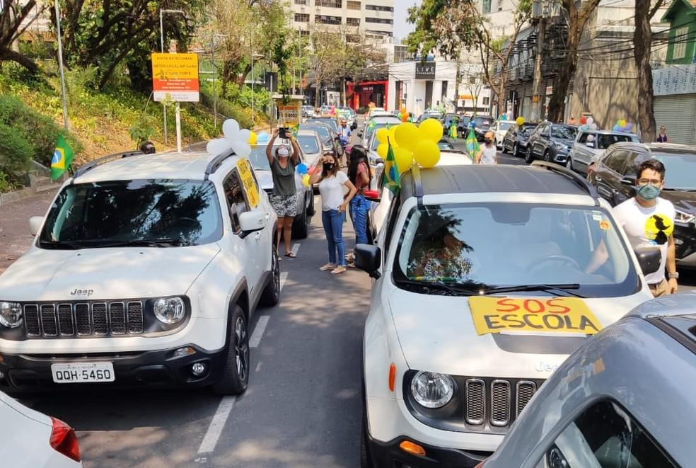 Pais pedem retorno das aulas presenciais em BH.  — Foto: Divulgação