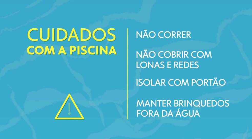 Cuidados com a piscina — Foto: Arte/TV Globo