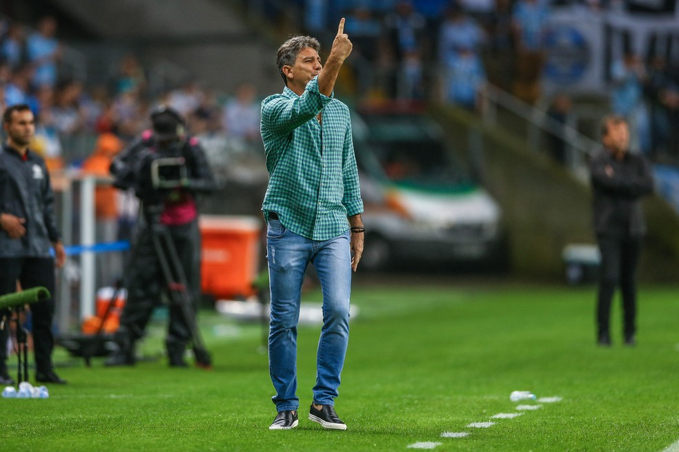 Renato tem bom retrospecto contra os argentinos — Foto: Lucas Uebel/Grêmio/Divulgação