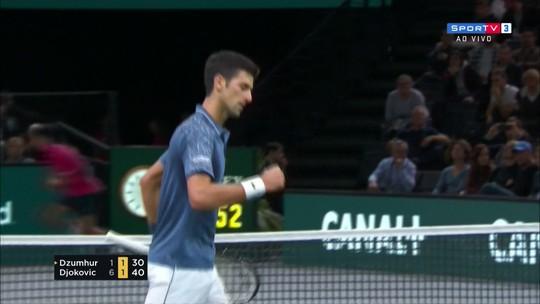 Novak Djokovic vence Dmir Dzumhur no Masters 1000 de Paris