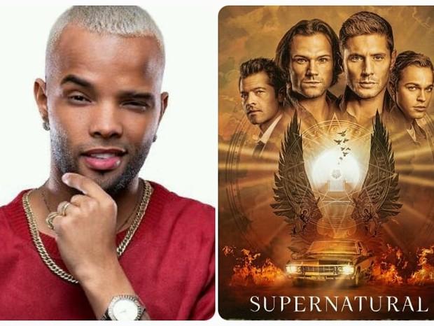 MC Zaac indica a série Supernatural (Foto: Instagram)