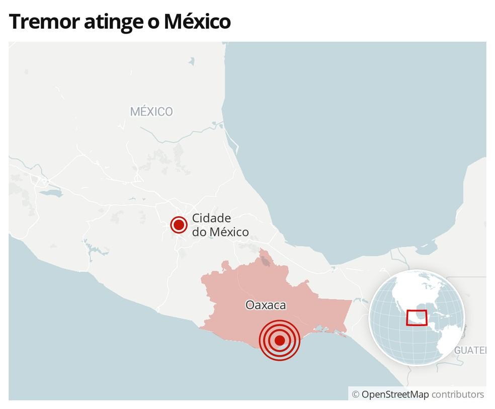 Tremor atinge o México em 23 de junho — Foto: G1