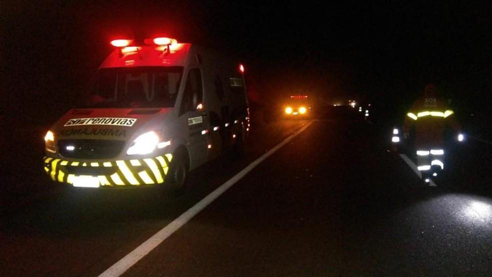 Acidente com o ex-jogador Mococa ocorreu na SP-340, em Mococa (Foto: Gabriel Delena/ Jornal do Meio Dia)