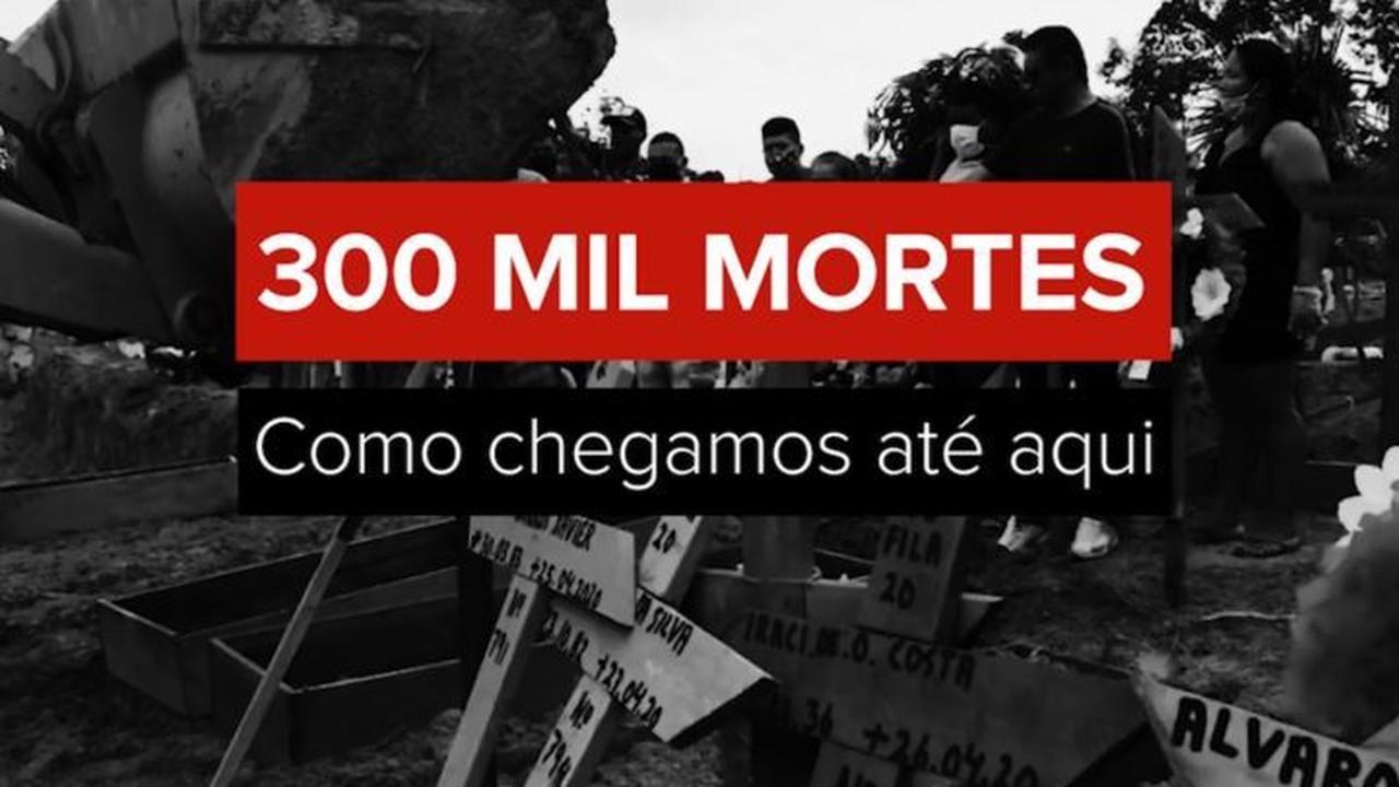 VÍDEO: Brasil tem 300 mil mortes por Covid perdendo vidas cada vez mais rápido; entenda