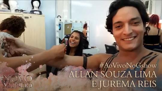 Allan Souza Lima e Jurema Reis mostram a caracterização de seus personagens em 'Novo Mundo'