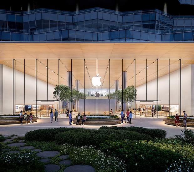 Fachada da primeira loja da Apple na Tailândia (Foto: Apple/Reprodução)