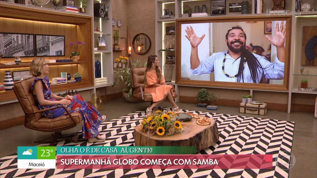 'É de Casa' começa com samba e alegria, ao som de Tunico da Vila