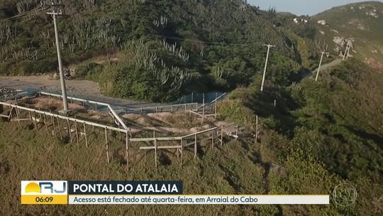 Acesso às praias do Pontal do Atalaia, em Arraial, está fechado